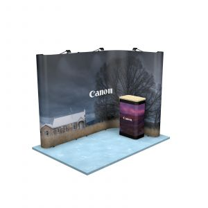 2M x 3M L Shaped Linked Exhibition Stand