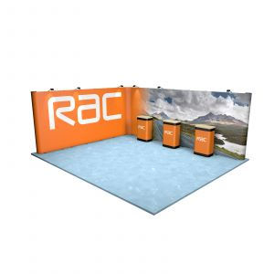 5M x 6M L Shaped Linked Pop Up Exhibition Stand