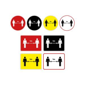 Social Distancing Coronavirus Floor Graphics and Stickers - Social Distancing 1m