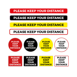 Social Distancing Coronavirus Floor Graphics and Stickers - Please keep your distance
