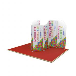 4m x 3m Curved Back Wall Modulate Display Stand