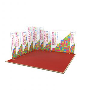 4m x 4m Deluxe L Shaped Modulate Display Stand