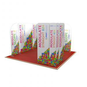4m x 4m Full Stand L Shaped Modulate Display Stand