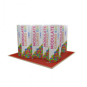 4m x 4m Wave Square Modulate Display Stand