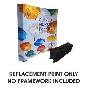 Replacement Print for Curved Fabric Pop Up Display Stand
