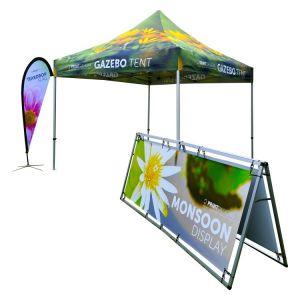 Gazebo Canopy, Monsoon and Teardrop Flag- BUNDLE
