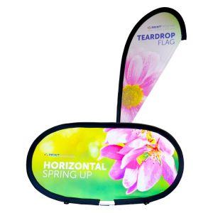 Teardrop Flag and Horizontal Spring Up - BUNDLE