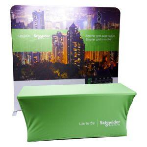 Bundle - Folding Table and Straight Fabric Display Bundle