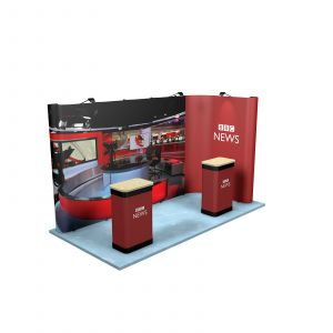 2M x 4M L Shaped Linked Exhibition Stand