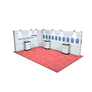 4M x 6M L Shaped Linked Exhibition Stand
