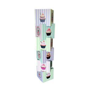 Cardboard Display Cube Tower