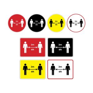 Social Distancing Coronavirus Floor Graphics and Stickers - Social Distancing 2m