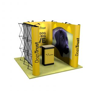 3M x 3M U Shaped Pop Up Linked Exhibition Stand