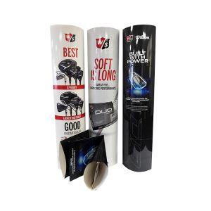 Folding Cardboard Totem Display Stand