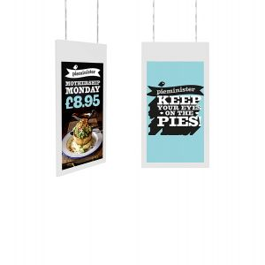 Hanging Double Sided Window Display