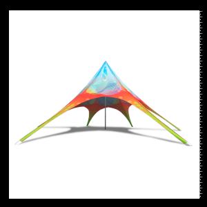 Printed Star Tent