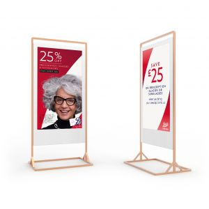 Super Slim Freestanding Double Sided Digital Posters