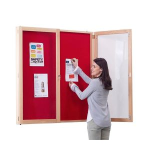 Wood Framed Tamperproof Noticeboard